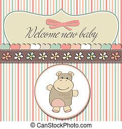 baby stortbad, kinderachtig, kaart