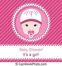 baby stortbad, meisje