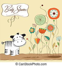baby stortbad, zebra, kaart