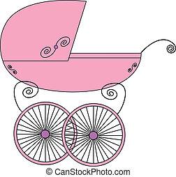 Baby stroller vector illustration