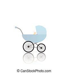 Baby Stroller Illustration - Illustration of a baby stroller...