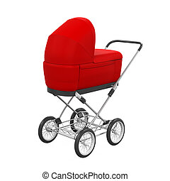 Baby Stroller Isolated