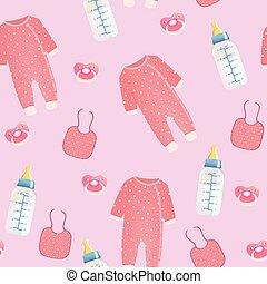 Baby stuff seamless pattern