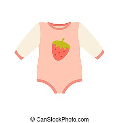 Baby Suit Clothes and Romper Vector Illustration - Baby...