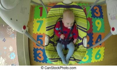 baby sway in swing - Newborn baby boy or girl sway in...