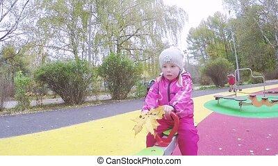 Baby swing for balance