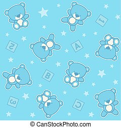 baby teddy bear boy seamless