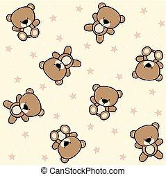 baby teddy bear seamless