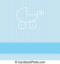 Baby template greeting card