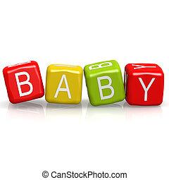 baby, terning, glose