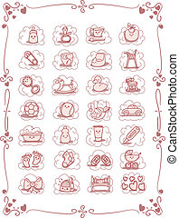 Baby-Theme Cartoon Icons