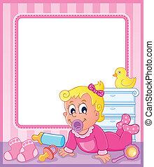 Baby theme frame 2