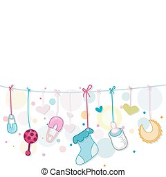 Baby Things - Illustration of Baby Related Items