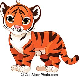 Baby Tiger - Illustration of cute baby tiger