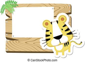 baby tiger sign board