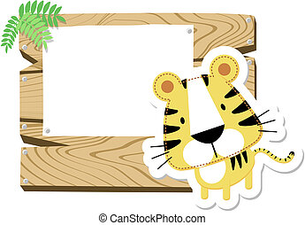 baby tiger sign board