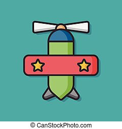 baby toy airplane vector icon