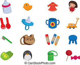 baby toy cartoon element