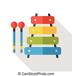 baby toy musical instrument piano flat icon