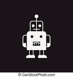 baby toy robot icon
