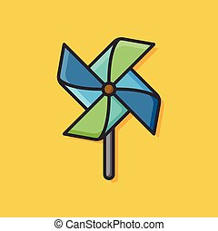 baby toy windmill icon