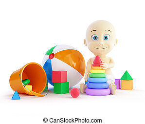 baby toys beach ball, pyramid