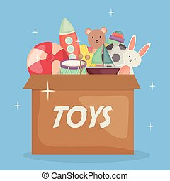 baby toys in carton box