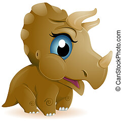 baby, triceratops