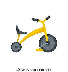 Baby tricycle icon, flat style