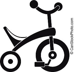 Baby tricycle icon, simple style