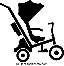 Baby tricycle stroller, shade picture