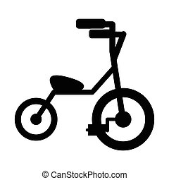 Baby tricycles simple icon