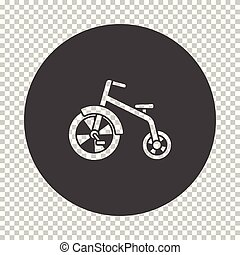 Baby trike icon. Subtract stencil design on tranparency...