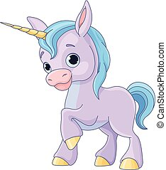 Baby Unicorn - Illustration of cute baby unicorn