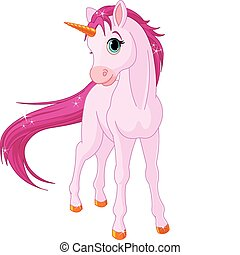 Baby unicorn - Standing beautiful baby unicorn