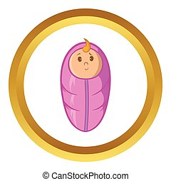 Baby vector icon, cartoon style