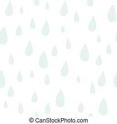 Baby vector seamless pattern. Light fun rain print for...