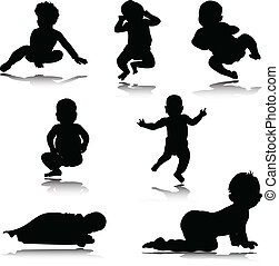 baby vector silhouettes