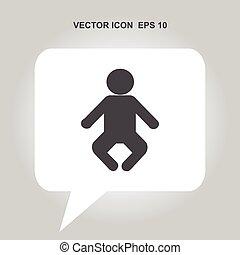 baby, vektor, ikone