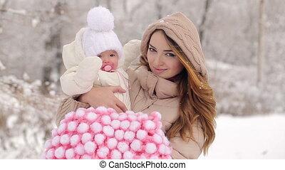 baby, verticaal, moeder