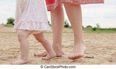 baby, vervaardiging, stappen, eerst