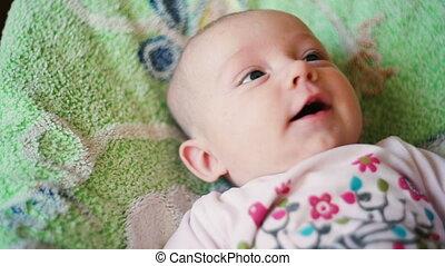 baby, vrolijke , schattig, pasgeboren