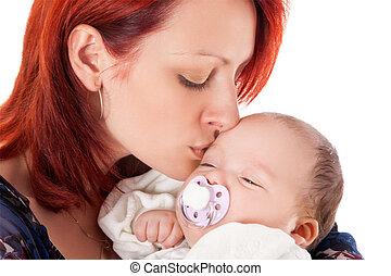 baby, vrolijke , schattige, moeder