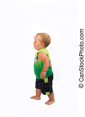 baby walking - Baby boy walking, just started walking in the...