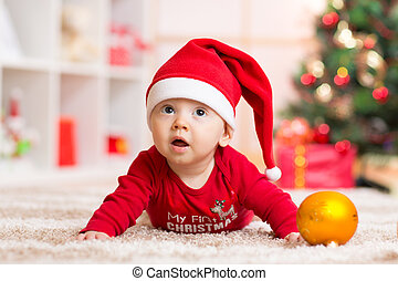 baby weared santa clothes