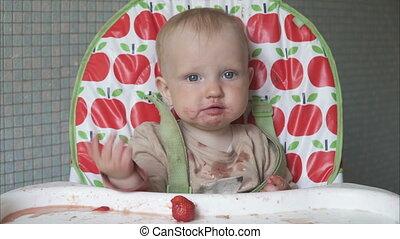 baby, weinig; niet zo(veel), vieze , gesticulating, vrolijke