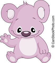 baby, winkende , koala