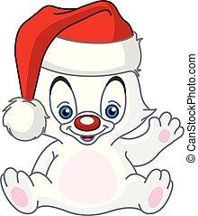 baby, winkende , weihnachten, eisbã¤r