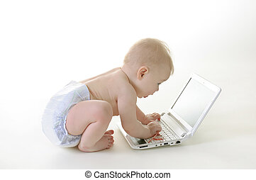 Baby with a laptop