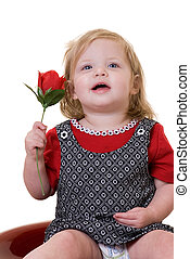 Baby with a rose